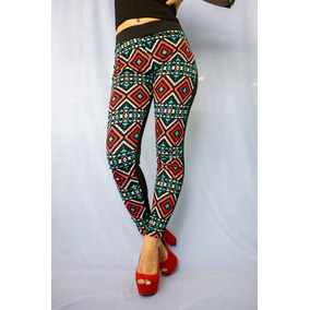 Legging Provoque Estampado Unicolor Pantalon Stretch Moda