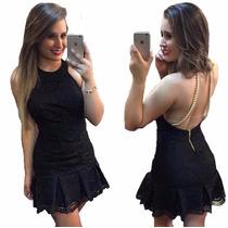 Vestido Feminino Curto Rodado Babado Cintura #vc15 Marcada
