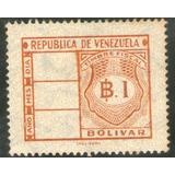Timbre Fiscal 1 Bolivar (i.p.z.s. - Roma) Años 60