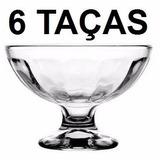 Kit Jogo 6 Taça Vidro Sorvete Colegial 270 Ml Frete Gratis