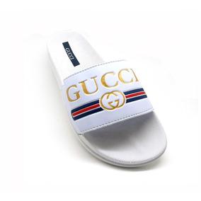 015c9d8e5d1 Chinelo Gucci Masculino Sandália Slide Benassi Style Beach