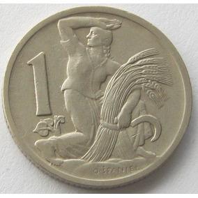 Chekoslovaquia Moneda 1 Koruna 1929 Km # 4 Excelente
