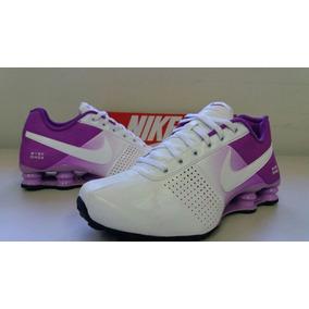 Tenis Nike Shox Deliver 317549 Feminino Branco E Lilas