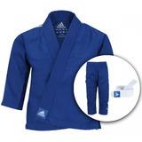Kimono De Judô adidas J200e - Infantil(azul) Grátis Faixa Br