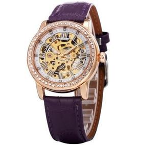 305dfa7cf39 Relógio Esqueleto Automático Todo Transparente Feminino - Relógios ...