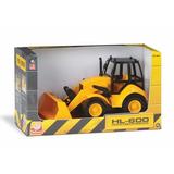 Veiculo Trator Escavadeira Hl 600 Construction Infantil