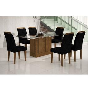 Mesa Jantar Rufato Amsterda 160 6 Cadeiras Rufato Athenas