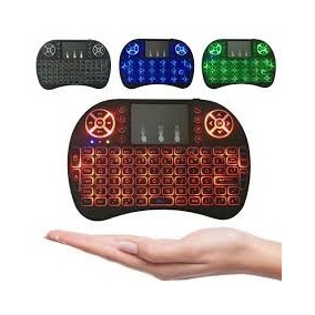 Mini Teclado Air Mouse Touch Sem Fio Tv Box Wireless C Luz