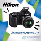 Camara Semiprofesional Nikon L340, 20mpx, 28x, Nueva