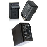 Kit Bateria Vw-vbg6 + Carregador P/ Panasonic Ag-ac130 Ac120