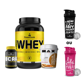 Power Whey Pote + Powerbcaa + Pasta De Amendoim + Coq Moran