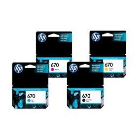 Cartucho Hp 670 Original Impresoras 4615 3525 4625 5525