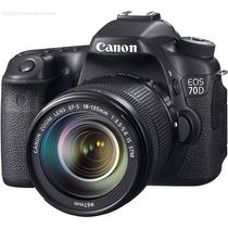 Camera Digital Canon Eos 70d Lente 18-135mm + 32gb Classe10