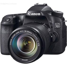 Camera Digital Canon Eos 70d Lente 18-135mm + 32gb+tripé