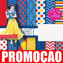 Kit Digital Papel Scrapbook - Princesa Branca Neve