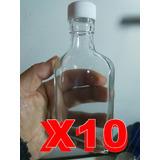 Botellas De Vidrio 200cc 15.8 X 7.5 X 3cm Tapa Rosca Pak 10