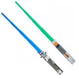 Pack 2 Espada Laser Sables De Luz Star Wars Marca Hasbro