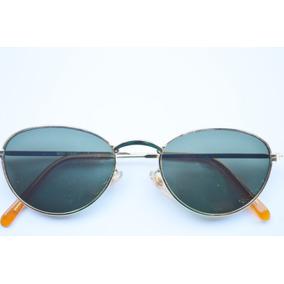6a3fc4c1a796d Oculos Leve Sol Armação Dourda Lentes Oval Semi Redondas · R  49 99