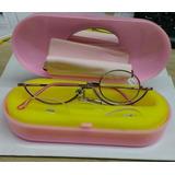 Oculos Auxilio Para Maquiagem Com Lentes E Estojo Rosa