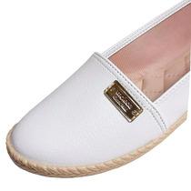 Sapato Branco Feminino Enfermagem Fechado Alpargatas Moleca