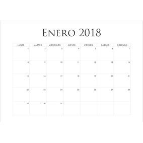 Kit Imprimible Agendas Y Calendarios 2018 Editables