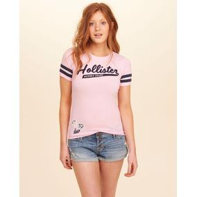 Camiseta Hollister Feminina Original Logotipo Tamanhos M