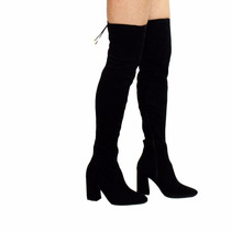 Bota Over The Knee Feminina Via Marte 17-5704 Preto