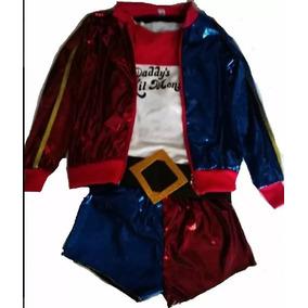 Disfraz Harley Quinn Niña- Talla 6 A 16 Años- Suicide Squad