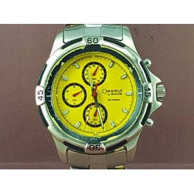 d6fb086ae07 Relógio Caravelle Bulova 45a01 Visor Amarelo Com Cronometro.