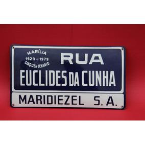 Placas De Ruas Esmaltadas De Marília Sp
