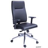 Cadeira Presidente Izzi Base Em Alumínio Polido Sincron