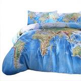 Sleepwish Mapa Del Mundo De Ropa De Cama Funda De Edredón Pa