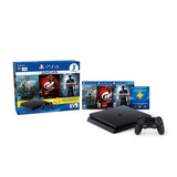 Play Station 4 Slim 1tb + Gow 4, Uncharted 4, Gt Sport Ps4