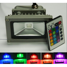 Mini Reflector Lampara Luz Led Exterior 10w Luz Rgb