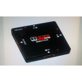 Hdmi Switch Suiche 1080p 3d 3 Entradas 1 Salida Dvd Ps3 Led.