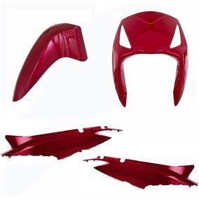 Kit Plastico Carenagem P/ Moto Biz + 125 Ano 2010 - Vermelho