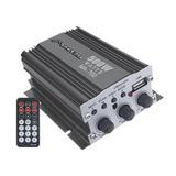 Mini Amplificador De 2 Canales Con Puerto Usb Mit-76usb