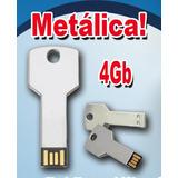 Flash Memory Pendrive 4gb Tipo Llave Metálica Al Por Mayor