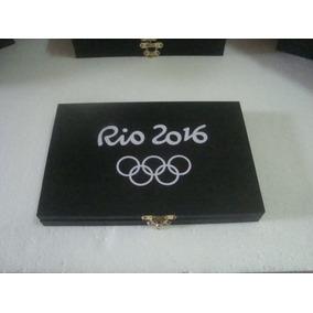 Estojo Caixa Moedas-olimpiadas Espaço Para 17 Moedas