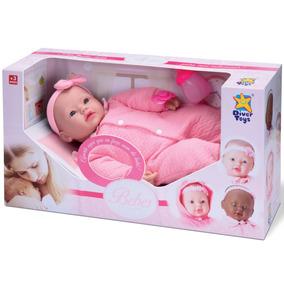 Boneca Bebê Real Lacinho Coleção Divertoys Fala E Chora