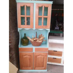 Muebles De Cocina De Pino Pintados - Organizadores de Madera en ...