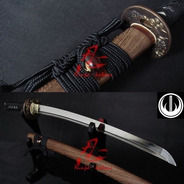 Espada Média Samurai Wakizashi Afiada Tradicional Com Corte