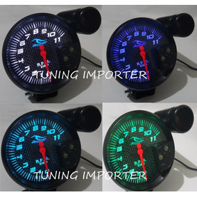 Tacometro Fondo Carbon Shif Light Rpm 7 Colores Tuning Auto