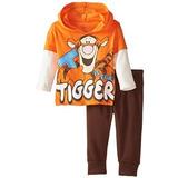 Tigger Basculador Fleece Pant Set Disney Bebé De Los Bebés C