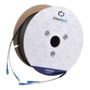 Carrete 300m Fibra Óptica Monomodo C/conectores Sc-sc Duplex