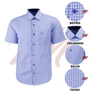 Camisa Social Masculina Amil Tamanhos Extras Plus Size 3003