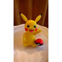 Pikachu Adorno De Torta Porcelana Fria