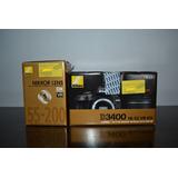 Cámara Nikon D3400 + Lente Af-p 18-55mm + Lente 55-200mm