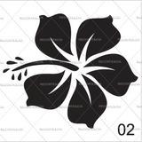 Adesivo Flor Havaiana - 2 Flores - Vários Modelos E Cores