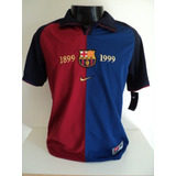 87b3b4c491 Camisa Barcelona Centenário 99-00 Kluivert 9 Champions Imp